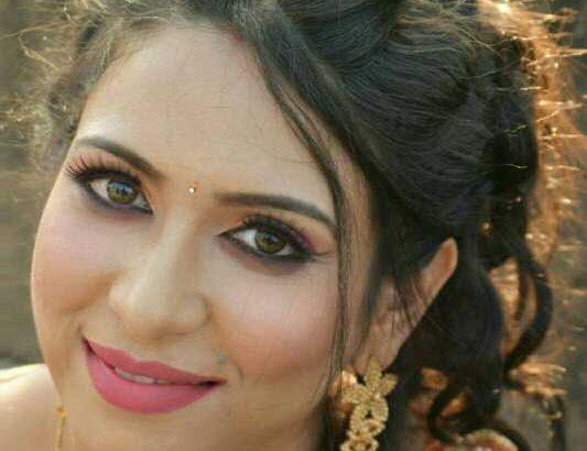 Krishna's makeover-bridal makeup