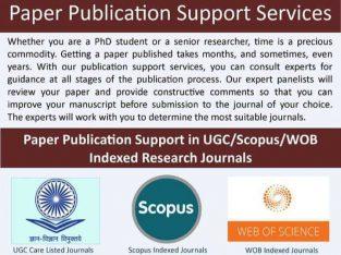 JOURNAL PUBLICATION (SCOPUS, UGC CARE, WEB OF SCIENCE) Whatsapp: +91-801723-3839